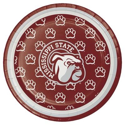 "8ct Mississippi State University 7"" Dessert Plates - NCAA"