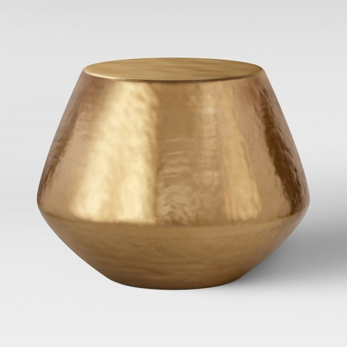 Borrego Hammered Drum Accent Table Brass - Project 62™ - image 1 of 6