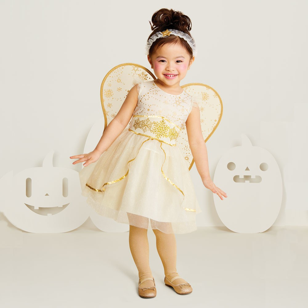 Image of Halloween Baby Girls' Angel Halloween Costume 18-24M - Hyde & EEK! Boutique , Infant Girl's, Size: Small, White Gold