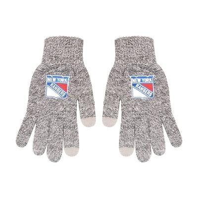 NHL New York Rangers Knit Gloves - Gray