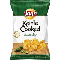 Krunchers Kettle Cooked Jalapeno Potato Chips - 8 Oz : Target