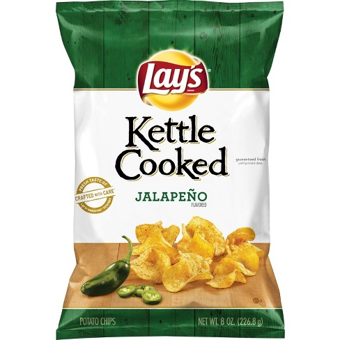 lay s kettle cooked jalapeno flavored potato chips 8oz target