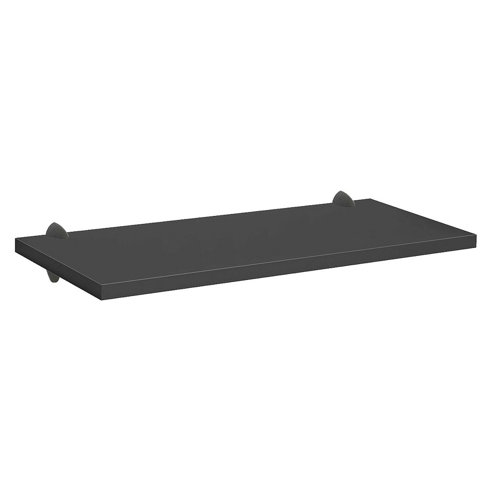 "Image of ""Black Sumo Shelf With Black Ara Supports - 32""""W x 16""""D, Size: 32 x 16"""""""