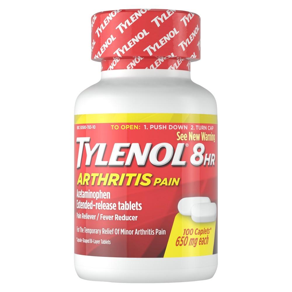Tylenol 8 Hour Arthritis Pain Reliever Extended-Release Caplets - Acetaminophen - 100ct
