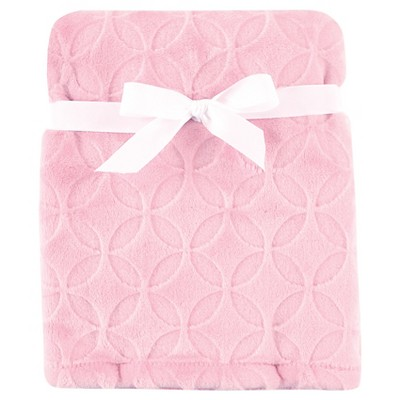 Hudson Baby Circle Burnout Plush Blanket - Pink