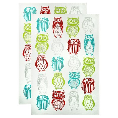 2pk Owls Kitchen Towels - MU Kitchen