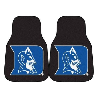 NCAA Duke Blue Devils Carpet Car Mat Set - 2pc