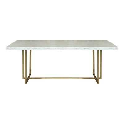 Horten Contemporary Dining Table Gold - Modern Home