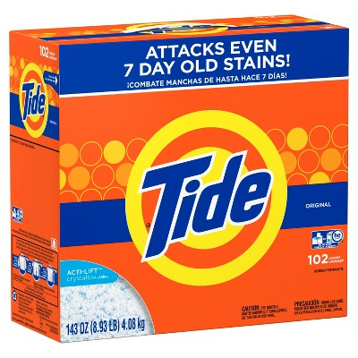 Tide Turbo Original High Efficiency Powder Laundry Detergent - 143oz