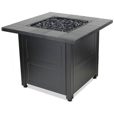 Gas Outdoor Fire Table with Stamped Design - Endless Summer