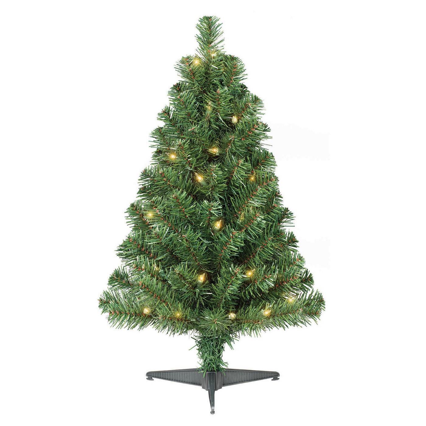 2ft Prelit Artificial Christmas Tree Alberta Spruce Clear Lights - Wondershop™ - image 1 of 4