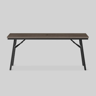 Mantega Faux Wood Rectangle Folding Patio Dining Table - Project 62™