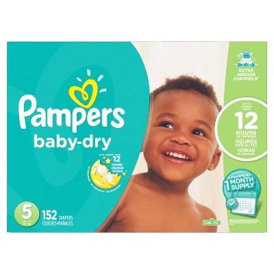 Pampers Baby Dry Diapers - Size 5 (152ct)