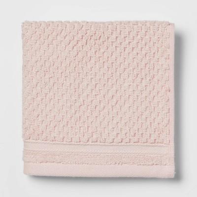 Performance Washcloth Blush Pink Texture - Threshold™