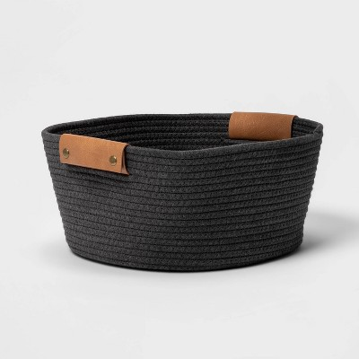 "13"" Small Coiled Rope Warm Gray Charcoal - Threshold™"