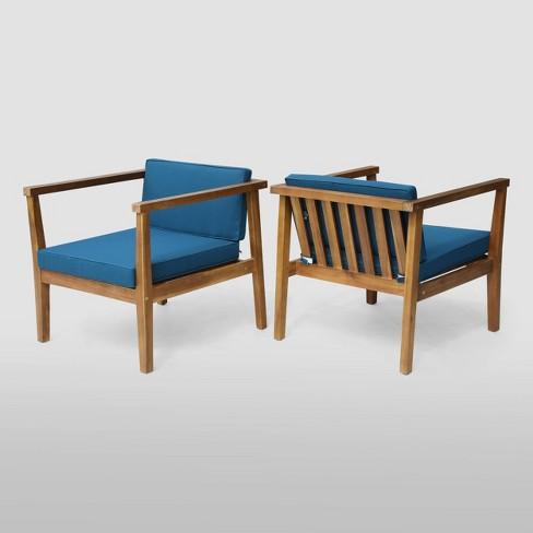 Newbury 2pk Acacia Club Chairs - Christopher Knight Home - image 1 of 4