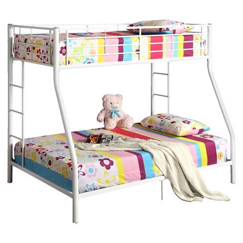 Premium Metal Twin Over Full Bunk Bed Black Saracina Home