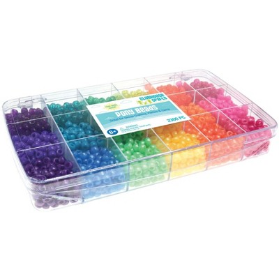 Sulyn Clubhouse Crafts Pony Beads, Assorted Colors, set of 2300