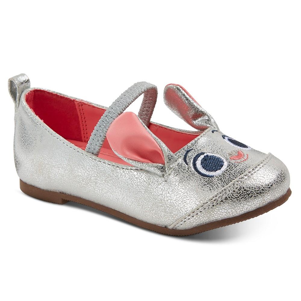 Toddler Girls' Disney Zootopia Ballet Flat - Silver 7, Light Silver