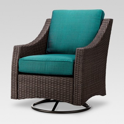 Belvedere Wicker Patio Swivel Club Chair   Threshold™