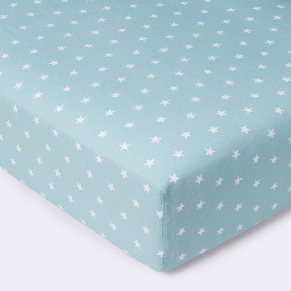 Fitted Crib Sheet Star Cloud Island 8482 Blue