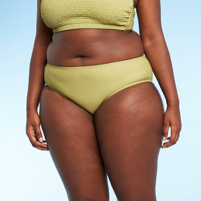 Juniors' Plus Size Hipster Bikini Bottom - Xhilaration™ Green