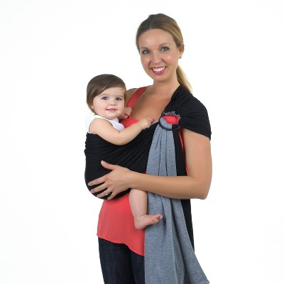 Balboa Baby Dr. Sears Reversible Jersey Sling - Black/Gray