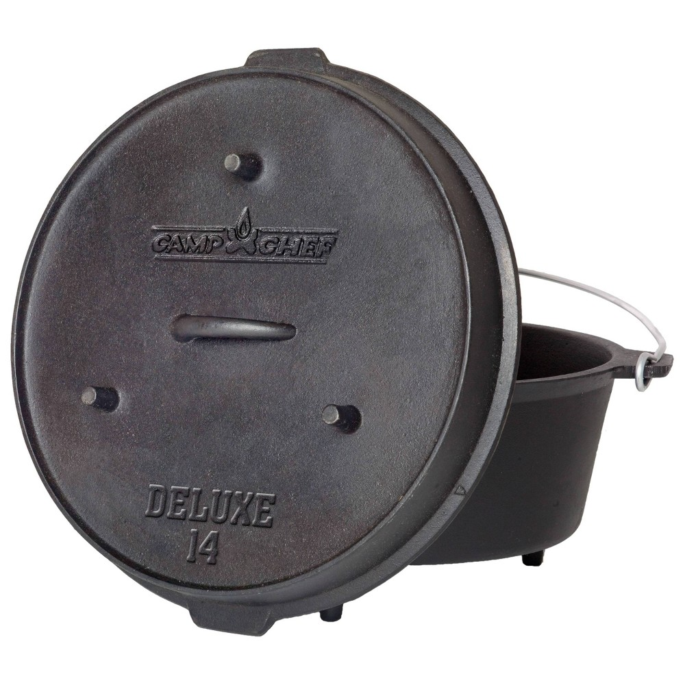 "Image of ""Camp Chef 14"""" Cast Iron Deluxe Dutch Oven - Black"""