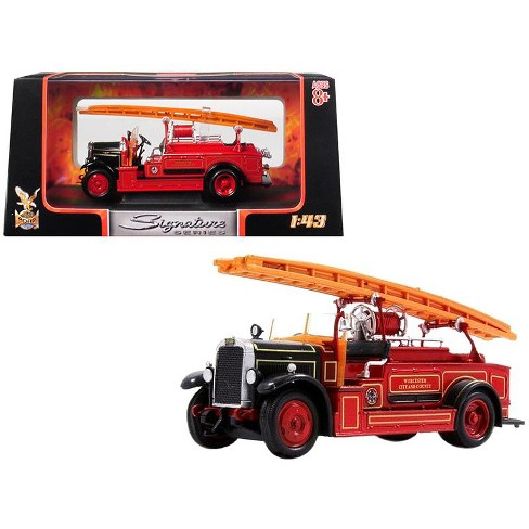 1934 Leyland FK-1 Fire Engine Red and Black 1/43 Diecast Model by Road Signature - image 1 of 1
