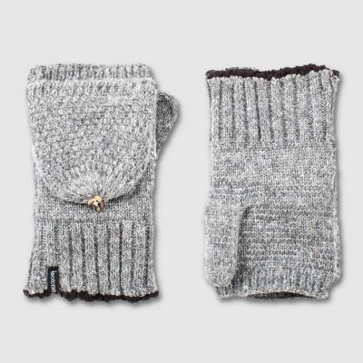 Isotoner Women's Recycled Knit Flip Top Mittens