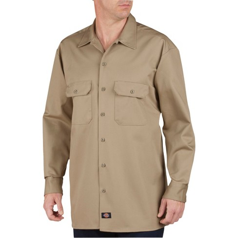 d14b1e9252fa Dickies Men's Relaxed Fit Heavy Weight Cotton Work Shirt : Target