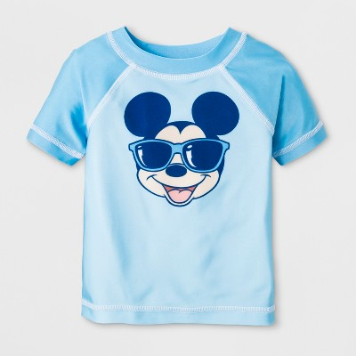 Baby Boys' Mickey Mouse & Friends Rash Guard - Blue 3-6M