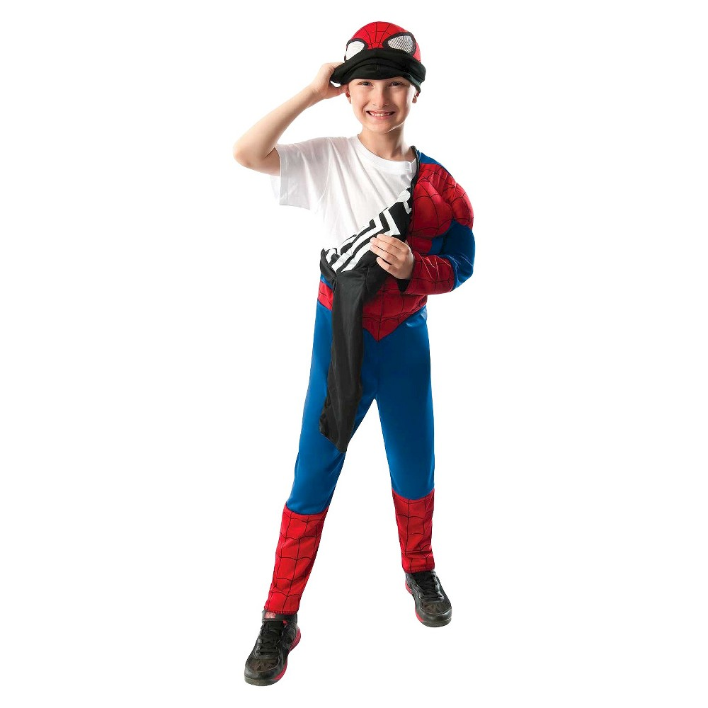 Spider-Man Boys' Reversible Costume Small (4-6), Size: S(4-6), Black