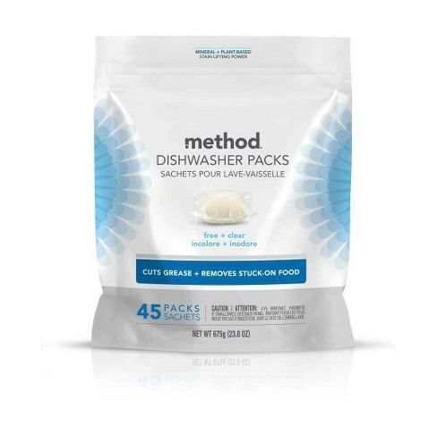Method Dishwasher Detergent Power Packets Free & Clear - 45ct - image 1 of 3