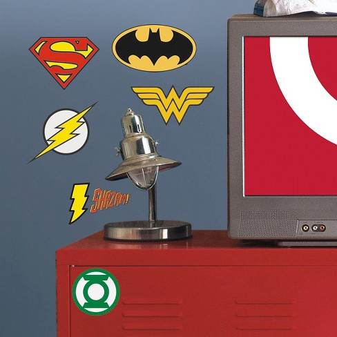 RoomMates DC Superhero Logos Peel and Stick Giant Wall Decals - image 1 of 2