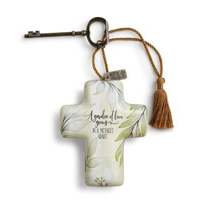 DEMDACO Mother's Heart Artful Cross 4 inch - Multi