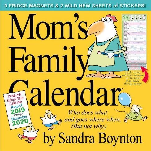 Mom's Family Wall Calendar 2020 - by Sandra Boynton