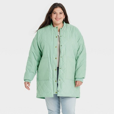 Women's Quilted Jacket - Universal Thread™ Green