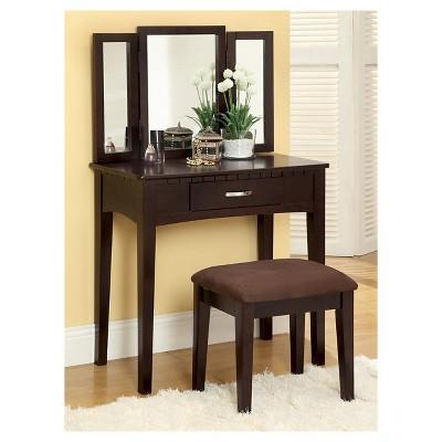 Espresso Vanity Tables Target, Espresso Vanity Set With Lights