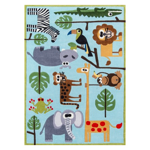 eee452496ab Lil Mo Whimsy Safari Animal Print Tufted Accent Rug - Momeni   Target