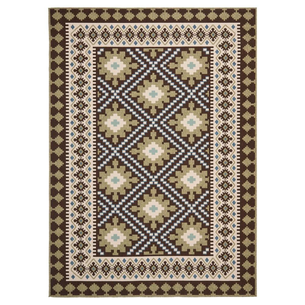 Nadir Indoor/Outdoor Area Rug - Chocolate/Green (Brown/Green) (8'x11'2) - Safavieh