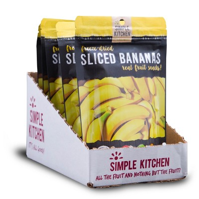 Wise Company Gluten Free Dehydrated Sliced Bananas - 9.6oz/4ct