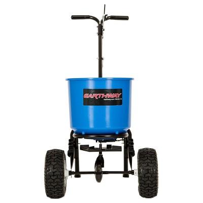 Earthway 2600A-PLUS-BC 40 Lb Capacity Medium Duty Commercial Garden Farm Lawn Automatic Seed Fertilizer Drop Spreader, Blue