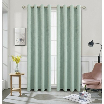 Kate Aurora Hotel Chic 2 Pack Light Filtering Grommet Top Window Curtains