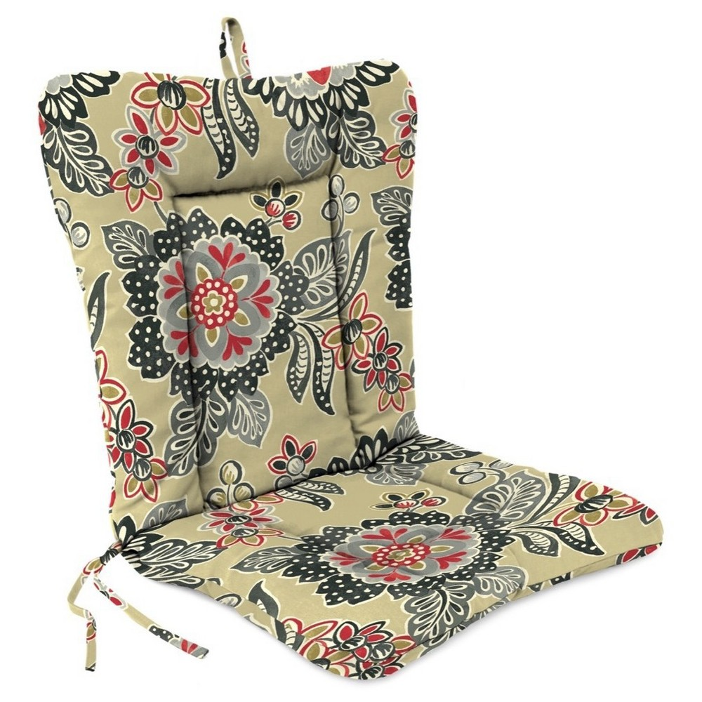 Jordan Euro Style Wrought Iron Dining Cushion - Black, Tw...