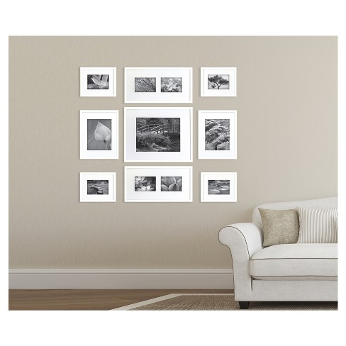 Gallery Perfect Picture Frame White 9pk - Gallery Solutions : Target
