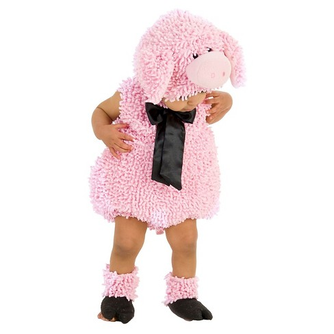 Girls' Squiggly Pig Baby/Toddler Costume - 18-24 M - image 1 of 1
