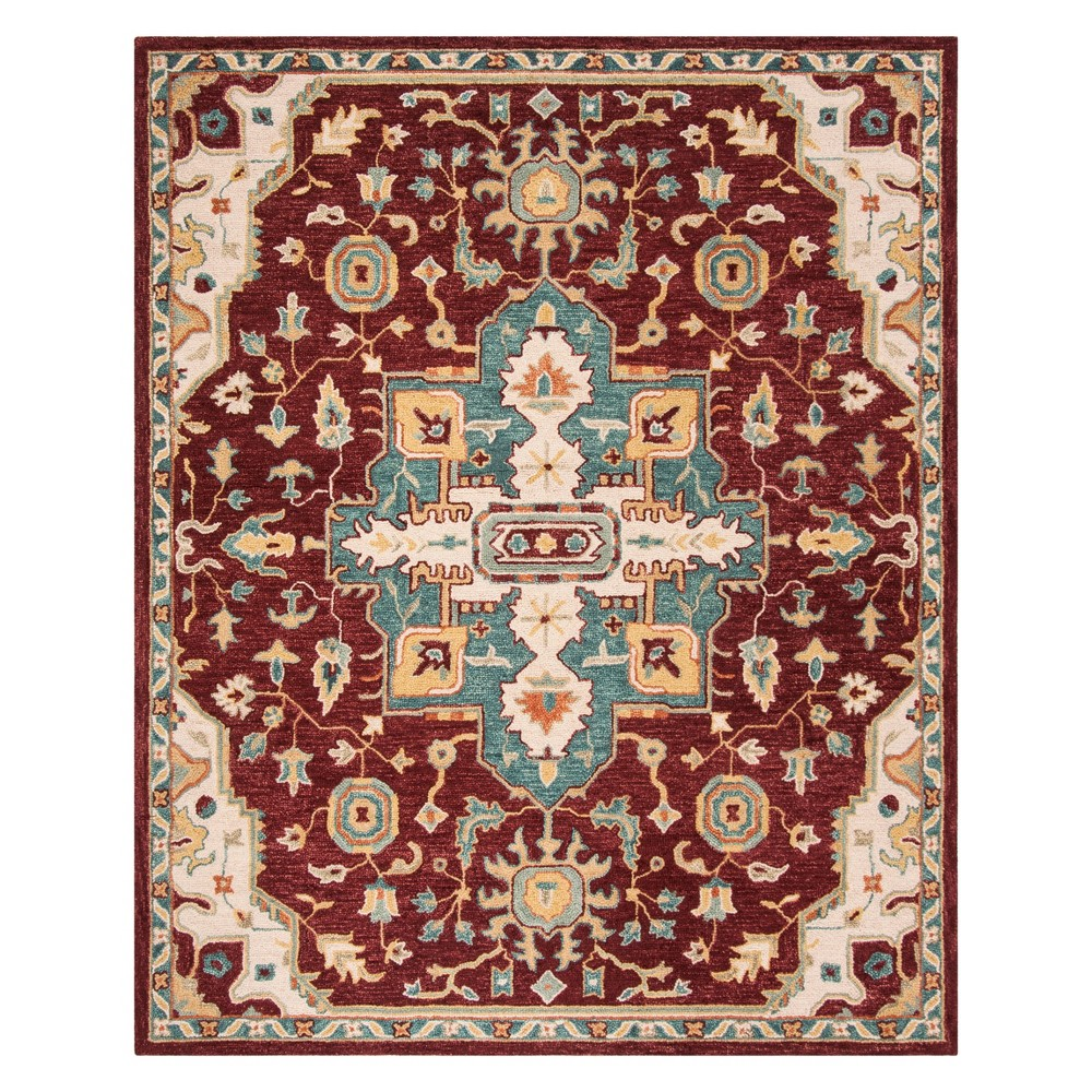 8'X10' Medallion Tufted Area Rug Red/Blue - Safavieh, Red Blue