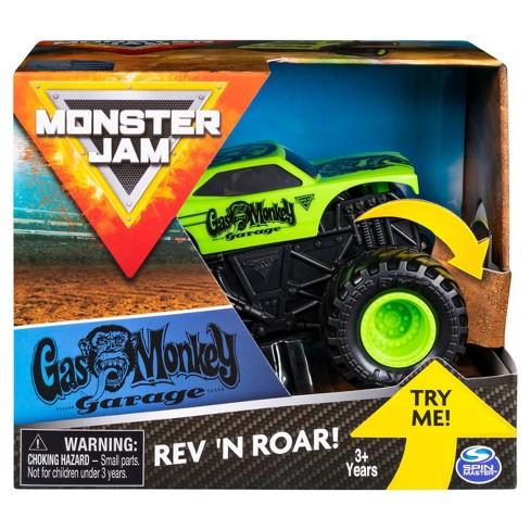 Monster Jam 1 43 Rev Rumble Trucks Assortment Gas Monkey Target