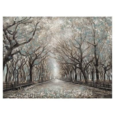 Momentary Quiet Platinum By Frank Parson Wrapped Unframed Wall Canvas Art - Masterpiece Art Gallery